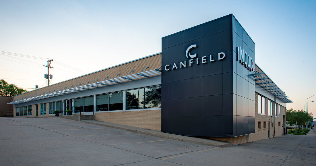 Canfield Business Interiors Front Of Building Looking NW